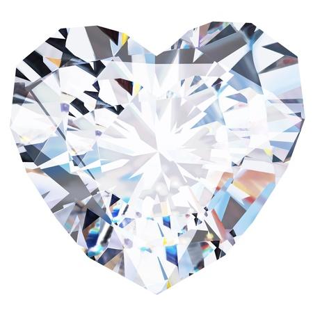 coeur diamant: diamant coeur sur fond noir Banque d'images