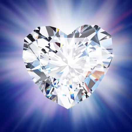 heart diamond  on black background Stock Photo - 11825712
