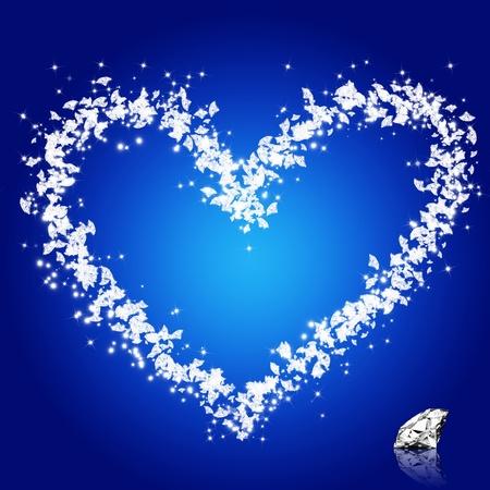 heart diamonds ,love valentine Stock Photo - 11824016