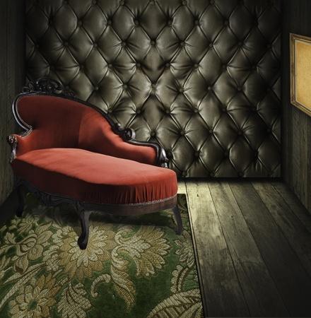 luxurious background: Luxury retro room interior