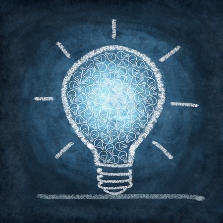 bombilla: dibujo bombilla por la tiza