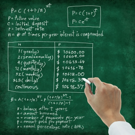 maths formula ,Interest and Exponential Growth  photo