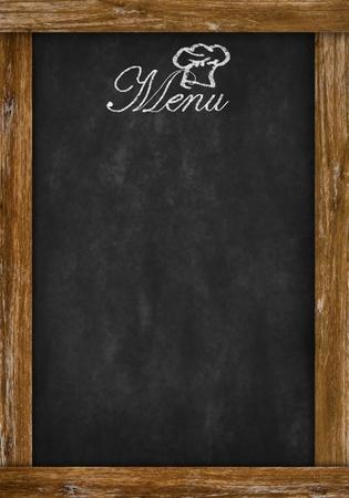 menu de postres: men� escrito en la pizarra con el espacio
