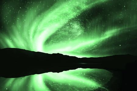 aurora borealis: northern lights ,aurora