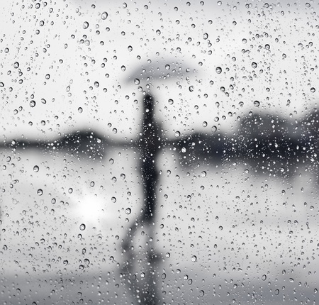 Regenachtige dag Stockfoto