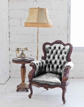 leather chair Foto de archivo
