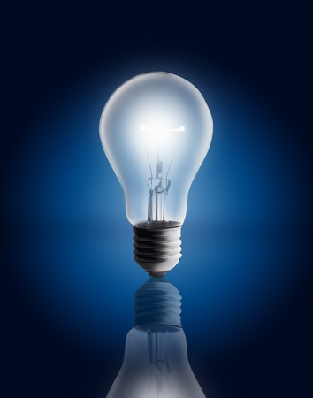single light bulb  photo