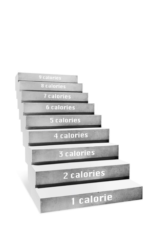 step ladder: stair concept on white background Stock Photo