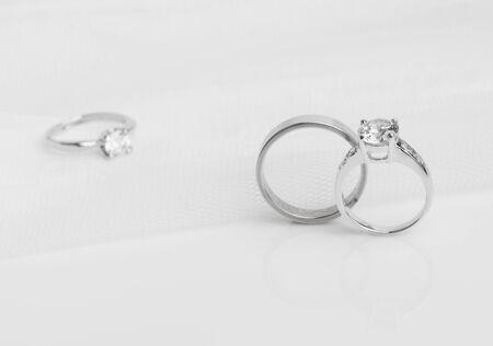 platinum wedding ring: diamond ring for wedding day Stock Photo