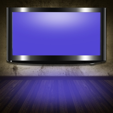 home cinema: TV flat screen lcd in the room