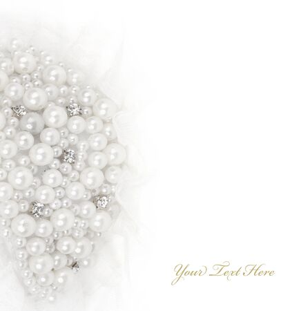 decorations pearl jewelry for women dress and hair photo