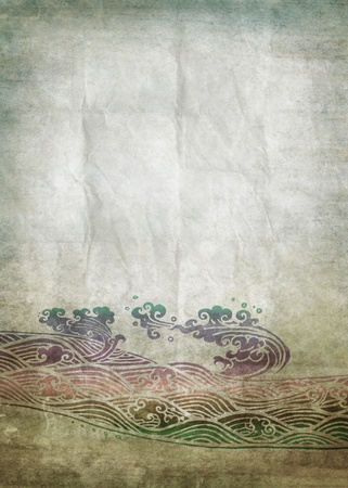 old writing: old grunge paper ,water pattern ,retro background