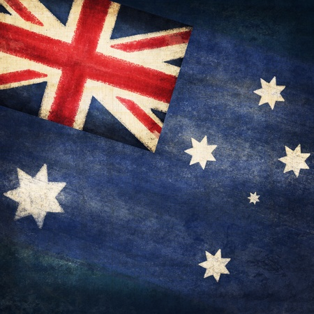 flag day: Australia  flag drawing ,grunge and retro flag series