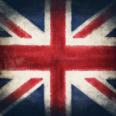 England flag drawing ,grunge and retro flag series photo