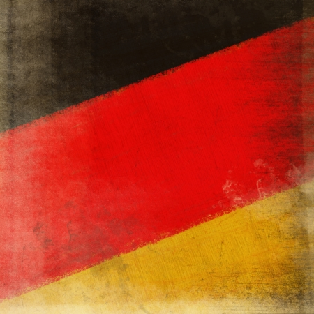 German flag drawing ,grunge and retro  photo