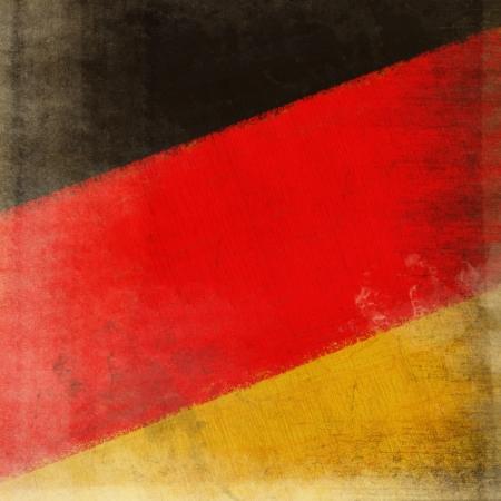 German flag drawing ,grunge and retro  photo