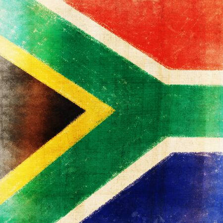 South Africa flag drawing ,grunge and retro flag series photo