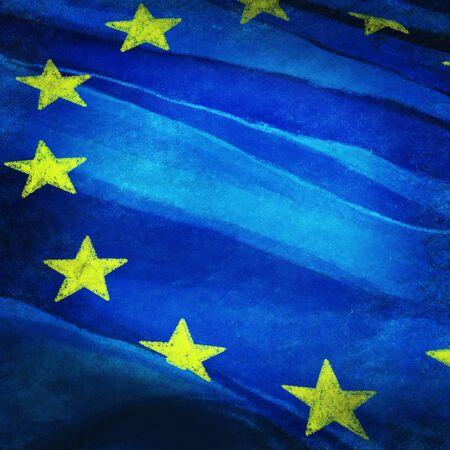 european parliament: European flag ,grunge and retro flag series