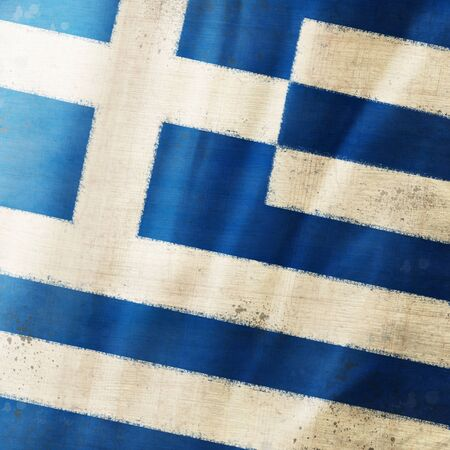 Greece flag ,grunge and retro flag series photo