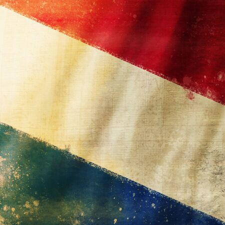 Holland flag ,grunge and retro flag series photo