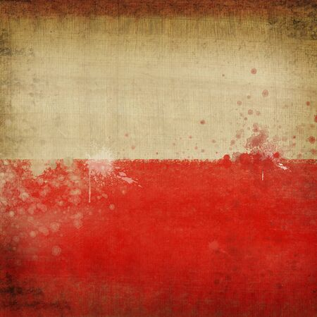 Poland flag ,grunge and retro flag series photo