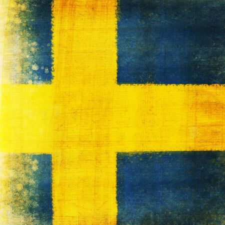 Swedish flag ,grunge and retro flag series photo