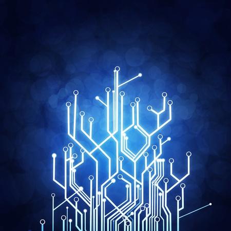 circuitos electronicos: tarjeta de circuitos, fondo de tecnolog�a Foto de archivo
