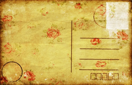 postal card: old blank postcard ,retro style