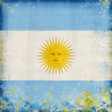 Argentina flag ,grunge and retro flag series photo