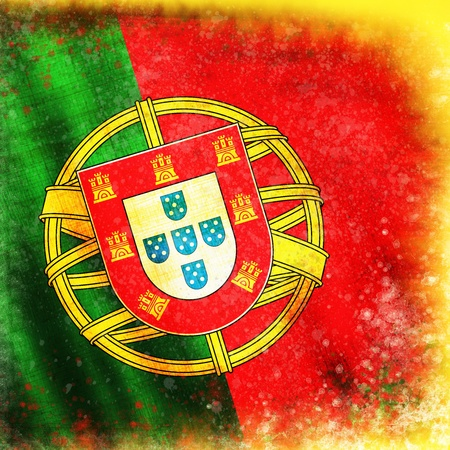 portugal flag ,grunge and retro flag series photo