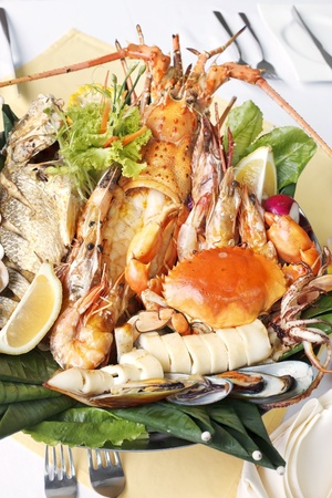 seafood with lobster photo