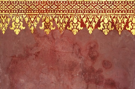 Pattern of art in Laos temple photo