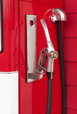 retro gas station pump ,red color photo