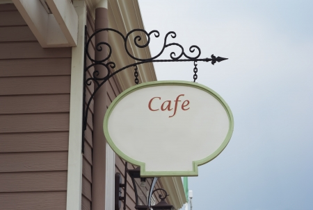 coffee shop sign vintage style photo