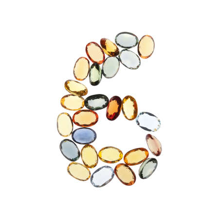 0 6 months: set of number 0-9 made by gems