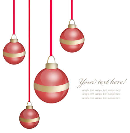 red christmas ball on white background Stock Photo - 12536842