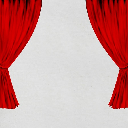 hand made paper with red curtain photo