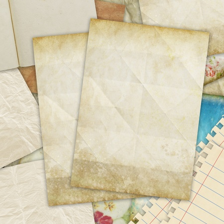 old blank papers ,retro background photo