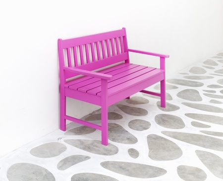 pink chair and decoration floor ,white room photo