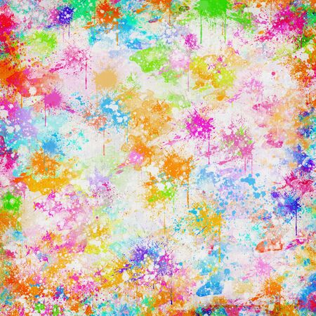 saturate: abstract colorful painting on hand made paper Stock Photo
