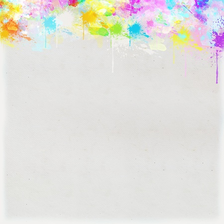 saturate: colorful painting on hand made paper Stock Photo