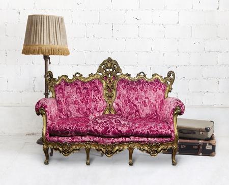 victorian sofa in white room ,,interior design Stock Photo - 13063131