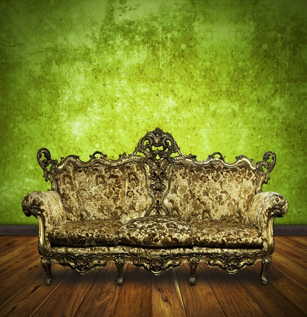 victorian sofa in retro room ,interior Stock Photo - 13080725