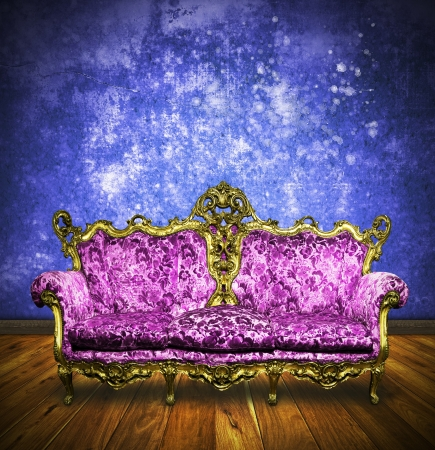 victorian sofa in retro room ,interior Stock Photo - 13080732