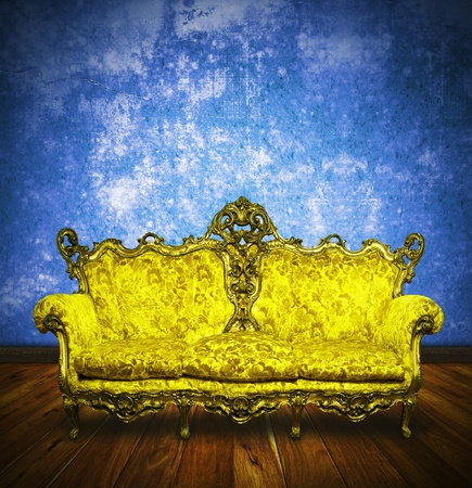 victorian sofa in retro room ,interior Stock Photo - 13080727