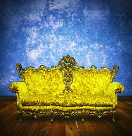 victorian sofa in retro room ,interior Stock Photo - 13080727