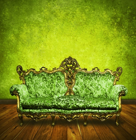 victorian sofa in retro room ,inter Stock Photo - 13080723