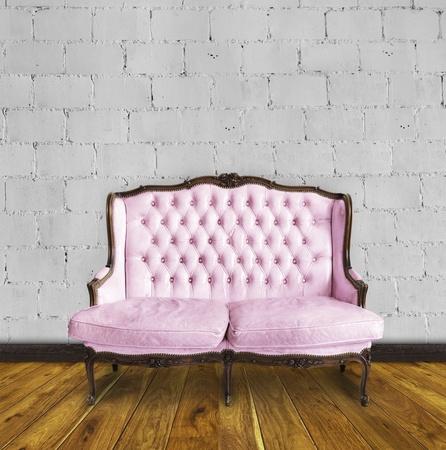 retro sofa in colorful room ,interior details Stock Photo - 13080742