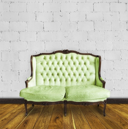 retro sofa in colorful room ,interior details Stock Photo - 13080735