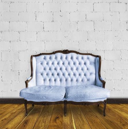 retro sofa in colorful room ,interior details Stock Photo - 13080737